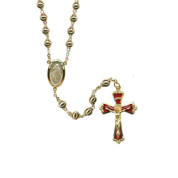 DIVINE MERCY GOLD PLATED ROSARY