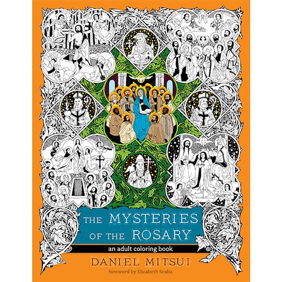 MYSTERIES OF THE ROSARY -  COLORING BOOK FOR ADULTS