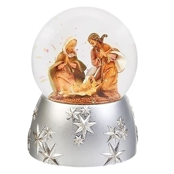 HOLY FAMILY MUSICAL GLITTER DOME - JOY TO THE WORLD