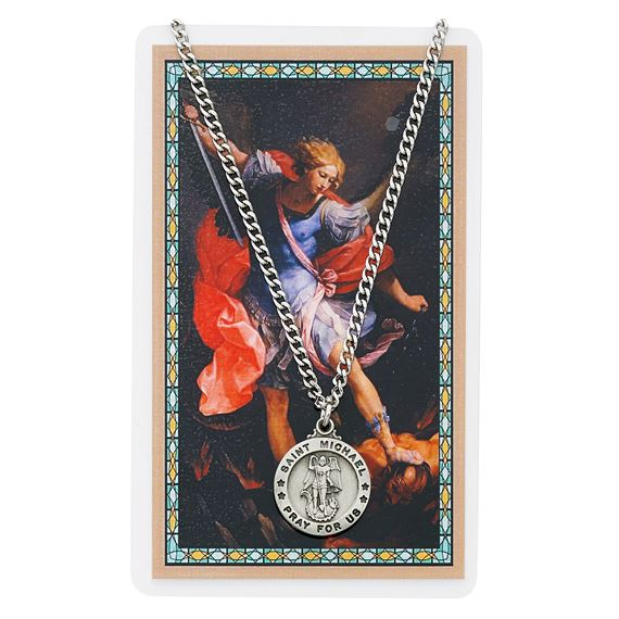 ST. MICHAEL PENDANT & PRAYER CARD