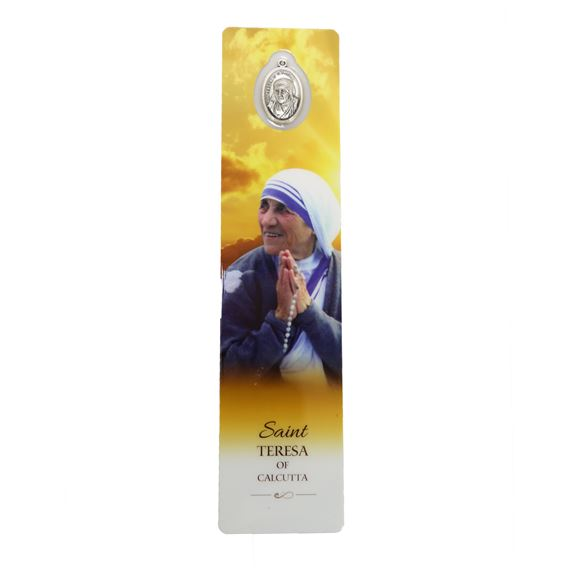 ST. TERESA OF CALCUTTA - BOOKMARK WITH MEDAL