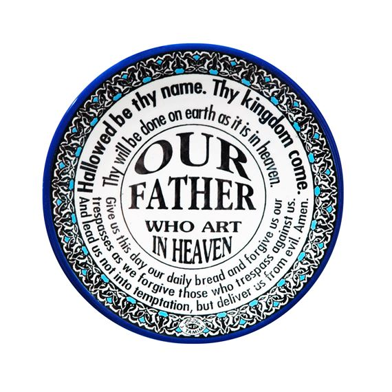 THE OUR FATHER - DECORATIVE CERAMIC PLATE