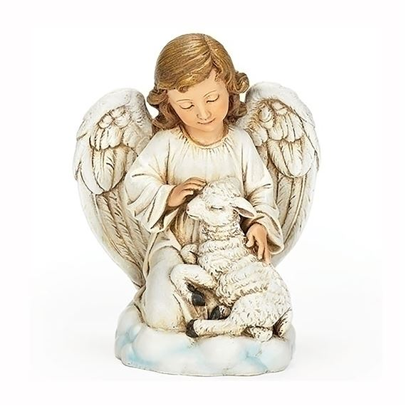 ANGEL WITH LAMB STATUE