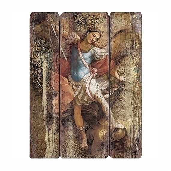 ST. MICHAEL - PANEL PLAQUE