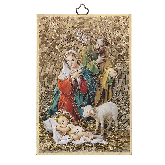 HOLY FAMILY MOSAIC PLAQUE