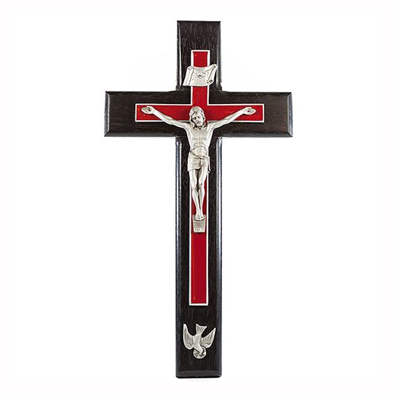 CONFIRMATION CRUCIFIX WITH RED OVERLAY