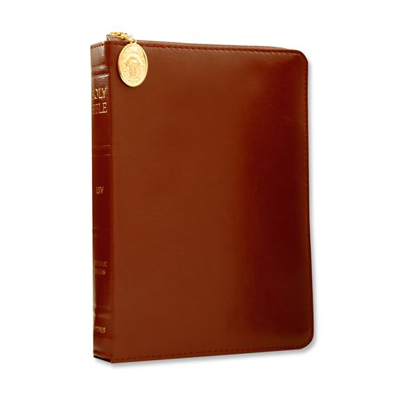 COMPACT IGNATIUS BIBLE: BURGUNDY COVER WITH ZIPPER