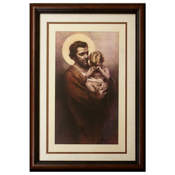 ST. JOSEPH AND JESUS FRAMED ARTWORK