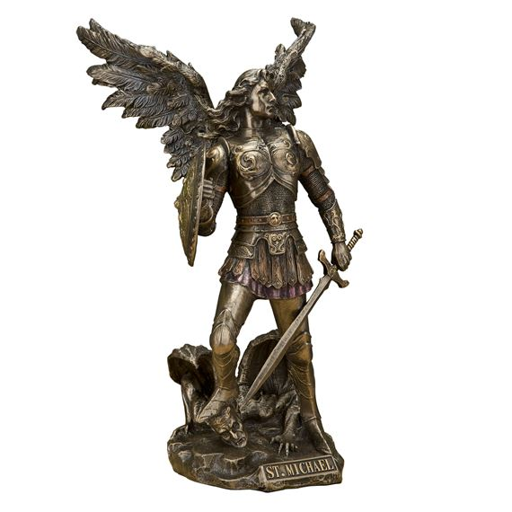 ARCHANGEL MICHAEL - BRONZE FINISH 12-INCH