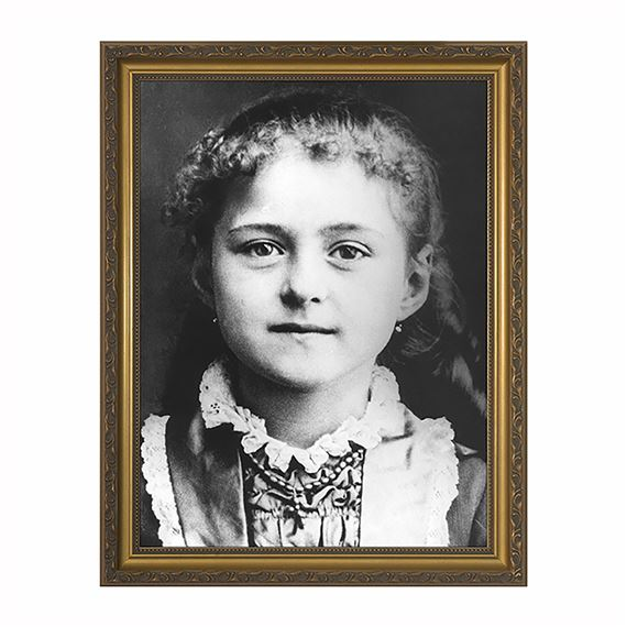 ST. THERESE CHILDHOOD PHOTO - GOLD FRAME