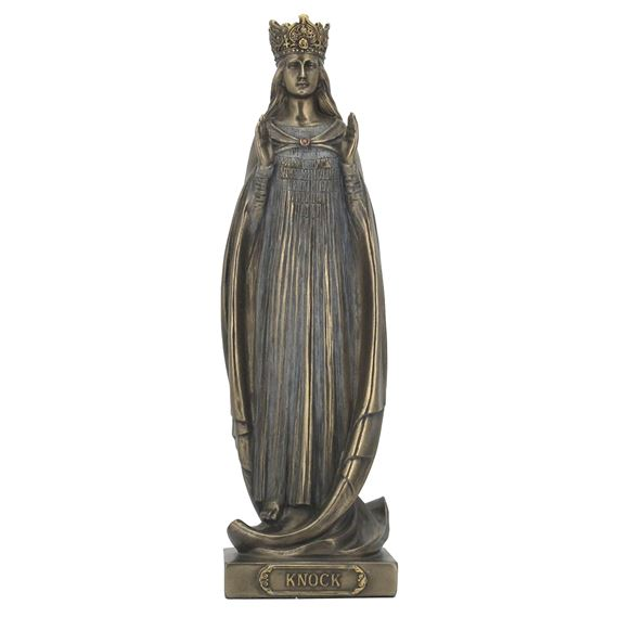 OUR LADY OF KNOCK  COLD-CAST BRONZE STATUE