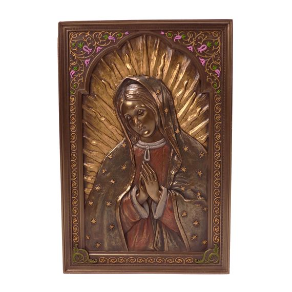 OUR LADY OF GUADALUPE BRONZED PLAQUE