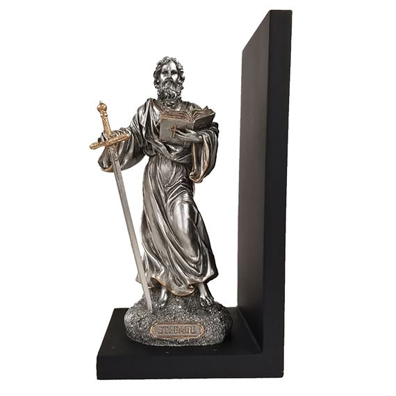 ST. PAUL LEFT-HAND PEWTER STYLE BOOKEND