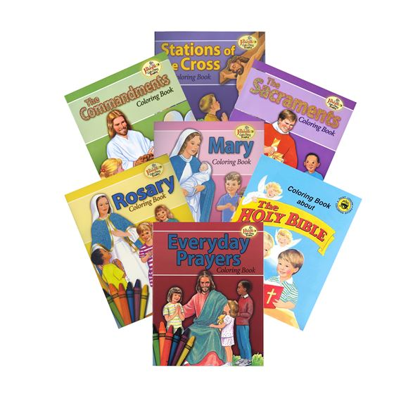 SET OF SEVEN COLORING BOOKS