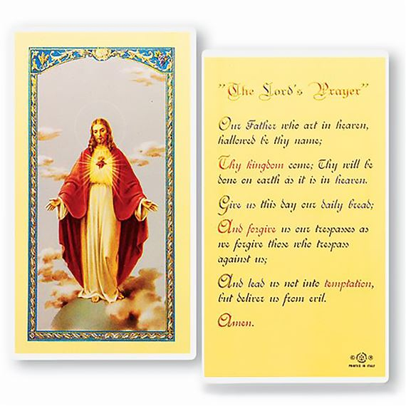 LAMINATED HOLY CARD THE OUR FATHER