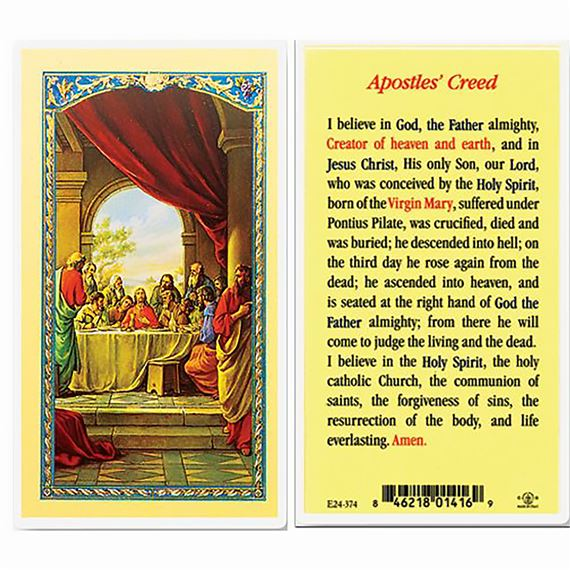 LAMINATED HOLY CARD - APOSTLE'S CREED