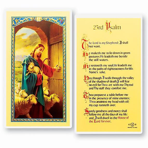 LAMINATED HOLY CARD - 23rd PSALM