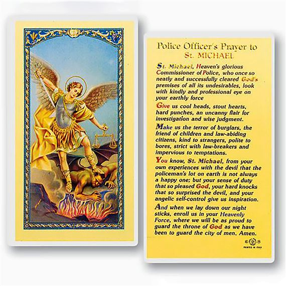 LAMINATED HOLY CARD - POLICE OFFICER'S PRAYER