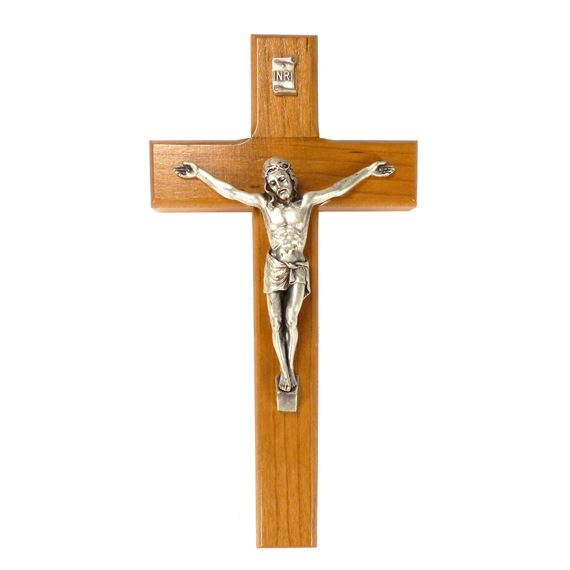 8-INCH WOODEN CRUCIFIX WITH ITALIAN CORPUS