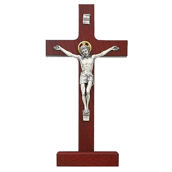 CHERRY CRUCIFIX ON STAND