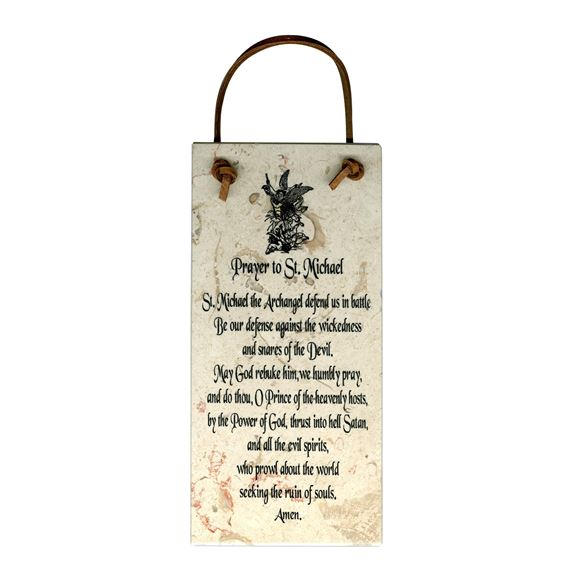 PRAYER TO ST. MICHAEL - STONE PLAQUE