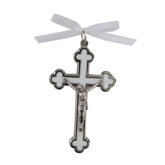 BABY CRIB CRUCIFIX - WHITE