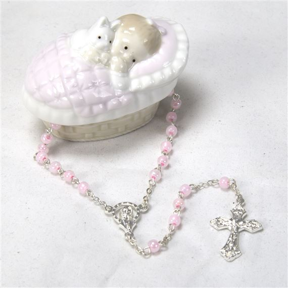 BABY GIRL'S KEEPSAKE ROSARY