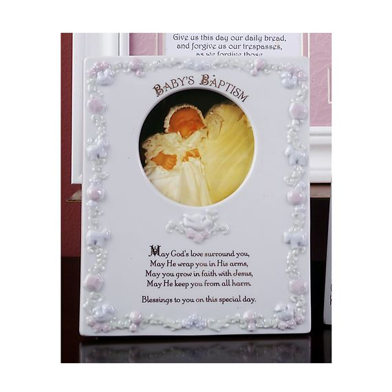 BABY'S BAPTISM PHOTO FRAME