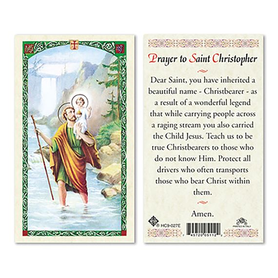 LAMINATED HOLY CARD - ST. CHRISTOPHER