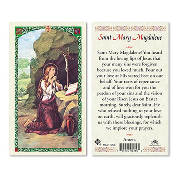 LAMINATED HOLY CARD - SAINT MARY MAGDALENE