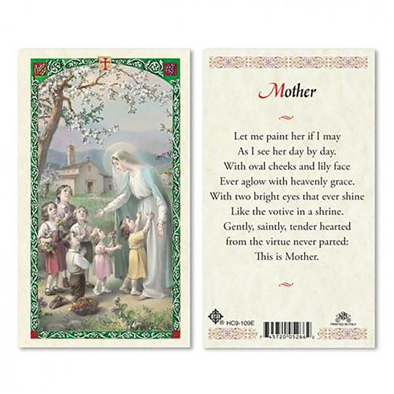 LAMINATED HOLY CARD MOTHER