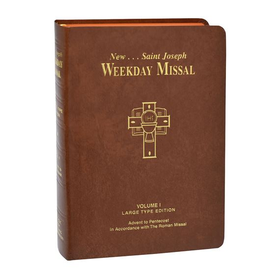 LARGE TYPE SAINT JOSEPH WEEKDAY MISSAL - VOL. 1