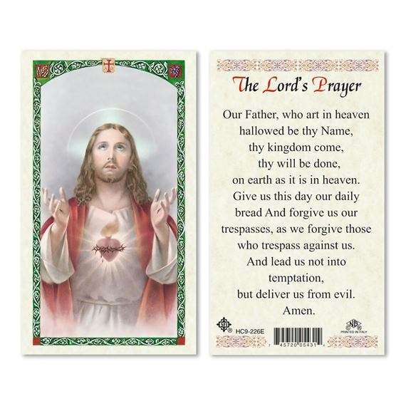 LAMINATED HOLY CARD - THE LORD'S PRAYER