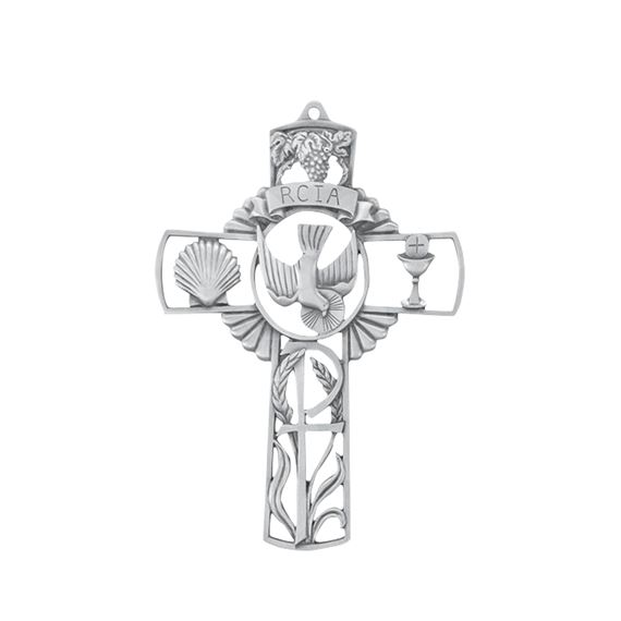 RCIA PEWTER SACRAMENTS CROSS