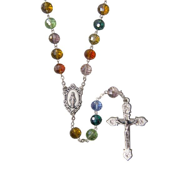 MULTI-COLOR CRYSTAL ROSARY