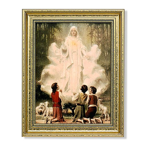 "OUR LADY OF FATIMA WITH CHILDREN - 11 1/2"" x 14 1/2"""