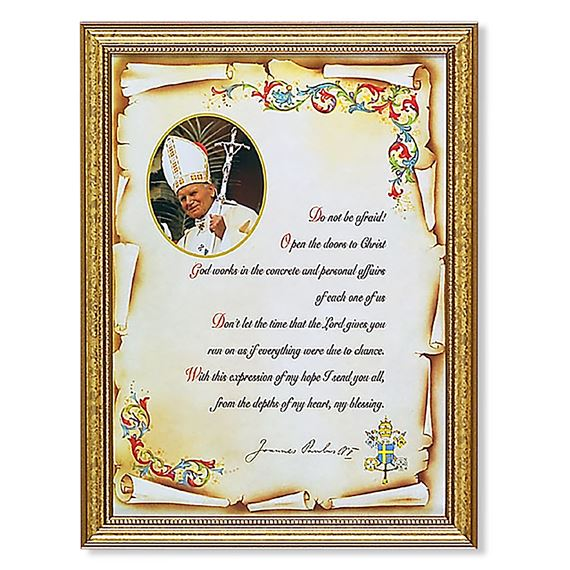 "JOHN PAUL II  ""DO NOT BE AFRAID"" FRAMED ARTWORK"