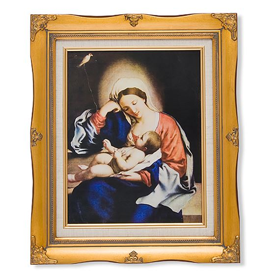 MADONNA AND CHRIST CHILD FRAMED ARTWORK