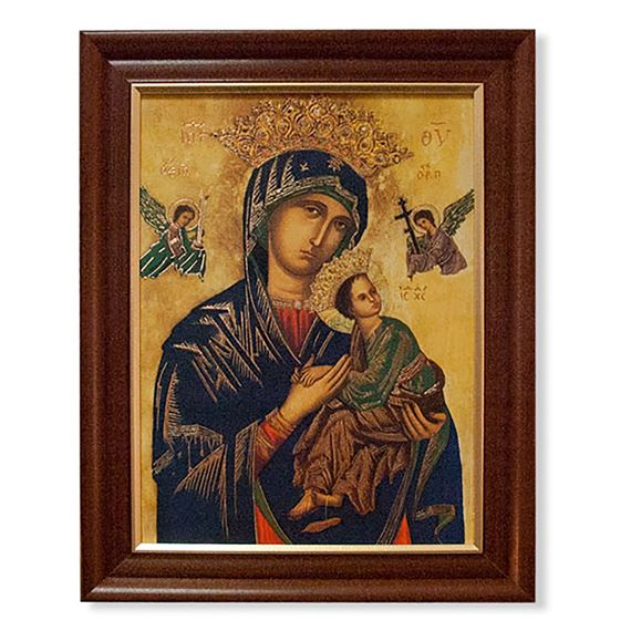 OUR LADY OF PERPETUAL HELP IN DARK FRAME