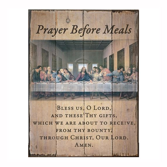 PRAYER BEFORE MEALS LAST SUPPER PLAQUE (12 X 16)
