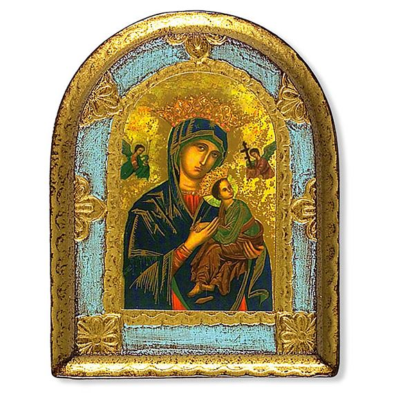 OUR LADY OF PERPETUAL HELP WOOD PLAQUE
