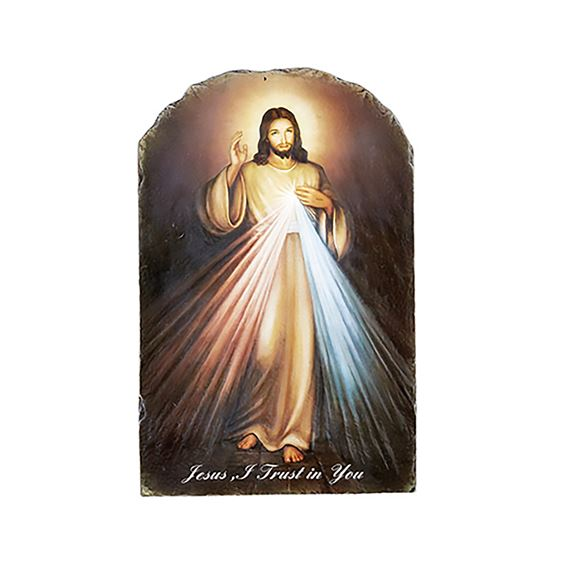 DIVINE MERCY - ARCHED PLAQUE
