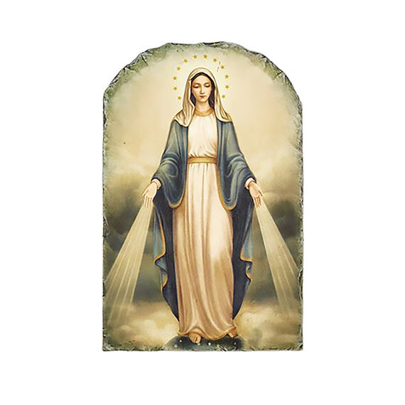 OUR LADY OF GRACE - ARCHED PLAQUE