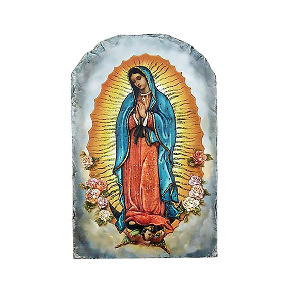 OUR LADY OF GUADALUPE - ARCHED PLAQUE