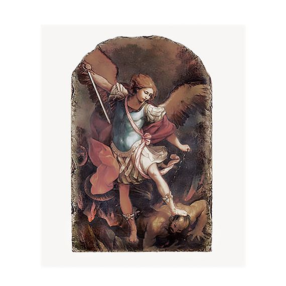 ST. MICHAEL - ARCHED PLAQUE