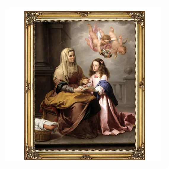 "ST. ANNE AND MARY BAROQUE FRAME - 13"" x 16"""