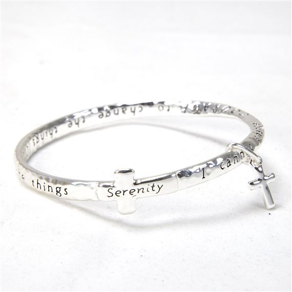 SERENITY PRAYER MOBIUS BRACELET WITH CROSS