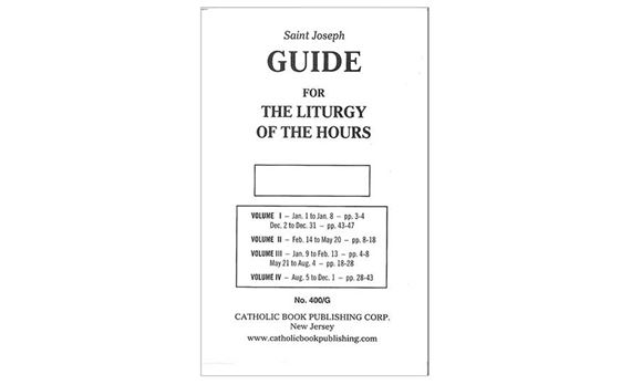 ANNUAL GUIDE FOR 4-VOL. LITURGY OF THE HOURS 2019