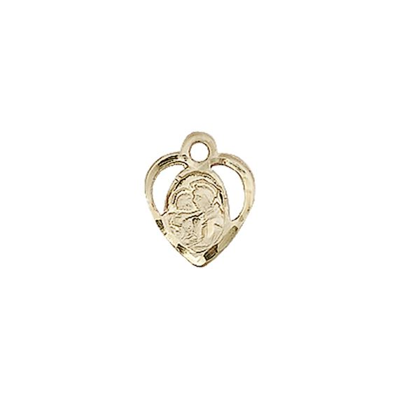 "14KT GOLD ST ANTHONY OF PADUA MEDAL - 3/8"" x 3/8"""