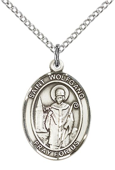 "STERLING SILVER ST WOLFGANG PENDANT WITH CHAIN - 3/4"" x 1/2"""